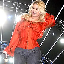 Jessica Simpson black pants camel toe